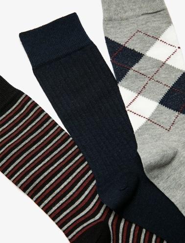 Koton 3'Lü Kadın Çorap Gri